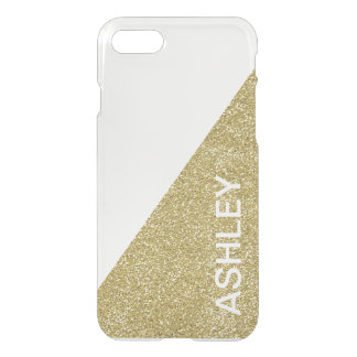 Gold Glitter Clear iPhone 7 Case