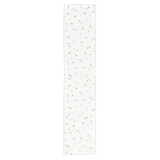 Gold Glitter Confetti Dot Polka Nail Table Runner