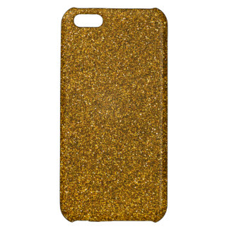 Gold Glitter Cover For iPhone 5C