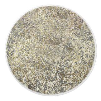 Gold Glitter Crackle Modern Chic Glam Sparkle Ceramic Knob