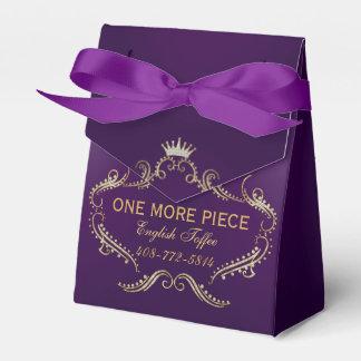 Gold Glitter Crown Frame Purple Background Favor Box