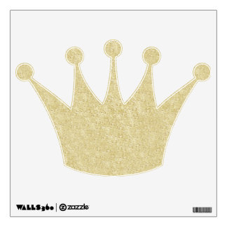 Gold Glitter Crown Wall Decal