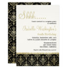 Gold Glitter Damask 60th Surprise Birthday Party Card