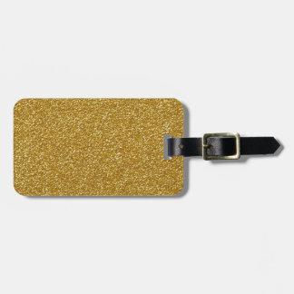 Gold Glitter Design Luggage Tag
