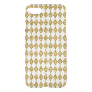 Gold Glitter Diamond Pattern iPhone 7 Case