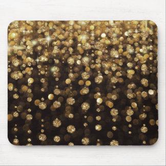 Gold Glitter Diamonds Mouse Pad