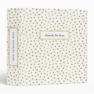 Gold glitter dots binder