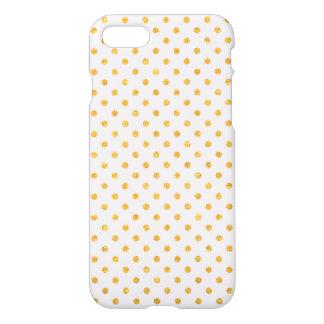 Gold Glitter Dots - iPhone 7 case