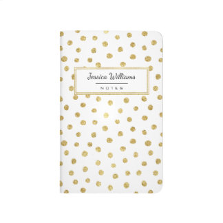 Gold glitter dots journals