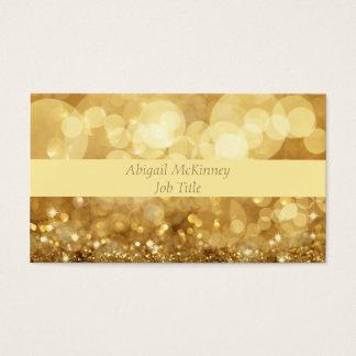Gold Glitter Elegant Professional Business Card