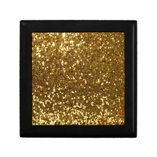 Gold Glitter Gift Box