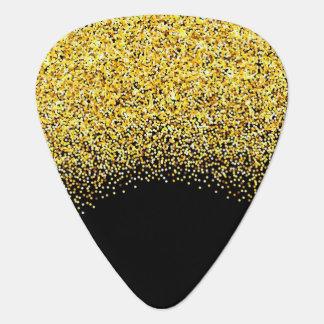 Gold Glitter Guitar Pick