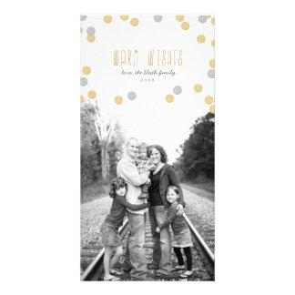 Gold Glitter Holiday Photo Card