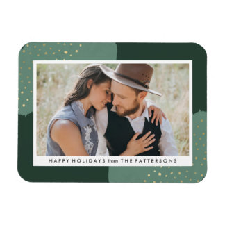 Gold Glitter | Holiday Photo Magnet
