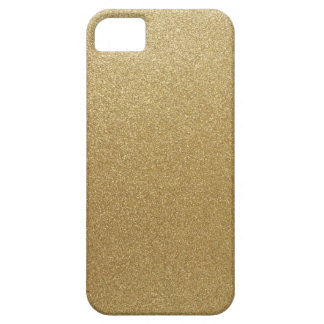 Gold Glitter iPhone 5 Covers