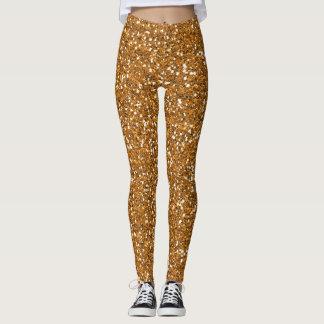 Gold Glitter Leggings