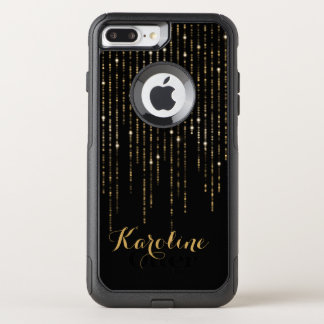 Gold Glitter Light Personalized OtterBox Commuter iPhone 8 Plus/7 Plus Case