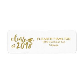 Gold Glitter Modern Script Graduation Party
