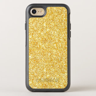 Gold Glitter Modern Stylish Sparkles Bling OtterBox Symmetry iPhone 8/7 Case