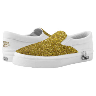 Gold Glitter New Years Eve Sparkle Shoes