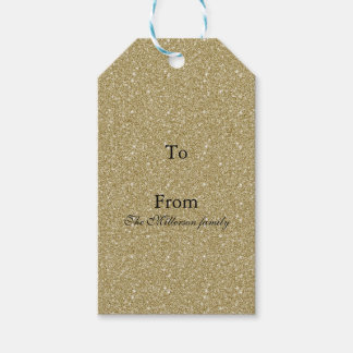Gold Glitter Pack Of Gift Tags