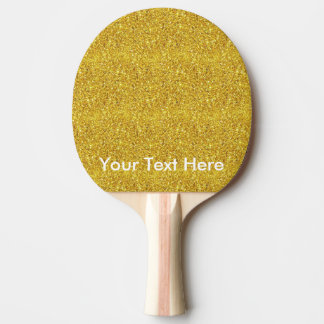 Gold glitter paddle with personalized custom text