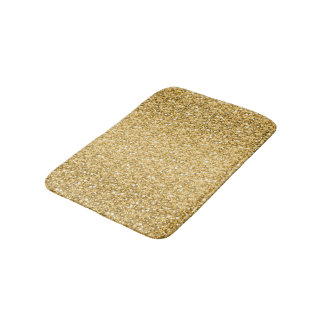 Gold Glitter Pattern Bath Mat