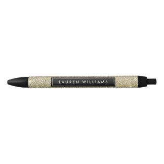 Gold Glitter Personalized Pen