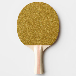 Gold Glitter Ping Pong Paddle