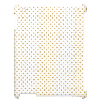 Gold Glitter Polka Dots Pattern Cover For The iPad