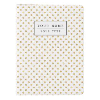 Gold Glitter Polka Dots Pattern Extra Large Moleskine Notebook