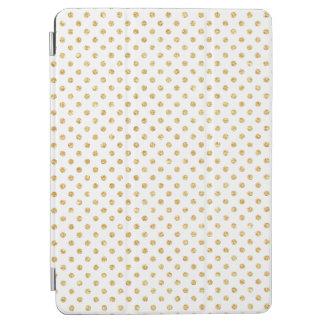 Gold Glitter Polka Dots Pattern iPad Air Cover