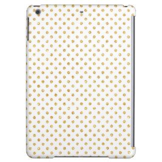 Gold Glitter Polka Dots Pattern iPad Air Covers