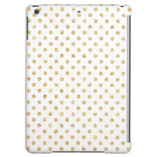 Gold Glitter Polka Dots Pattern iPad Air Covers