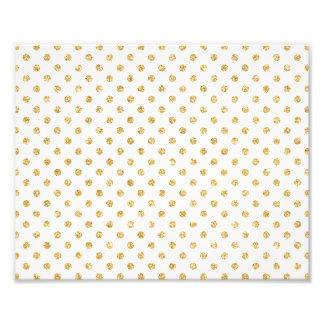 Gold Glitter Polka Dots Pattern Photograph