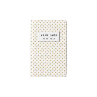 Gold Glitter Polka Dots Pattern Pocket Moleskine Notebook
