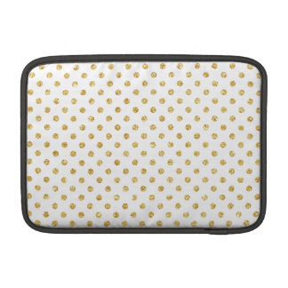Gold Glitter Polka Dots Pattern Sleeve For MacBook Air