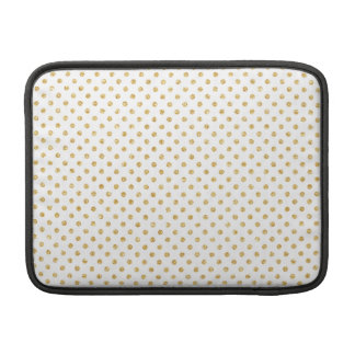 Gold Glitter Polka Dots Pattern Sleeves For MacBook Air