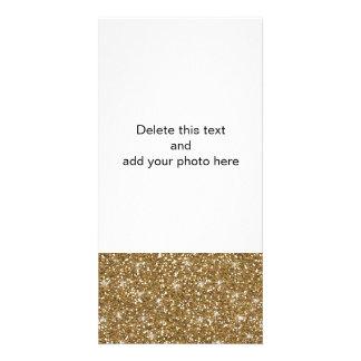 Gold Glitter Printed Photo Card