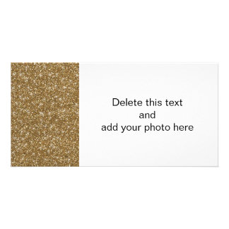 Gold Glitter Printed Photo Card Template