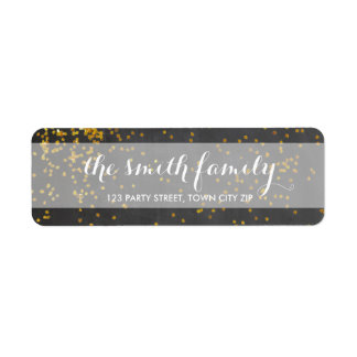 Gold Glitter Return Label