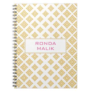 Gold Glitter Rhomboid Notebooks