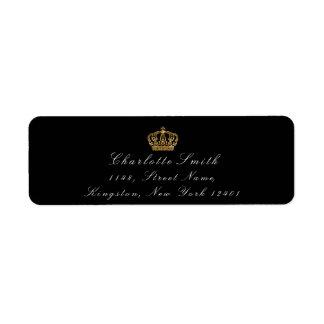 Gold Glitter RSVP Crown Princess Bridal Black