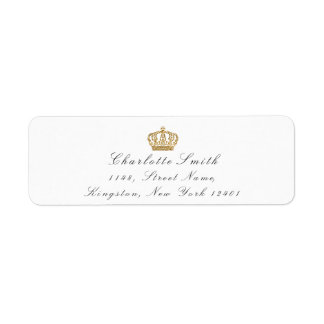 Gold Glitter RSVP Crown Princess Bridal White