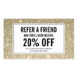 Gold Glitter Salon Referral Card Pack Of Standard Business Cards