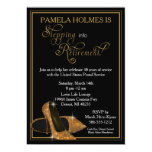 "Gold Glitter Shoes Retirement Party 5"" X 7"" Invitation Card"