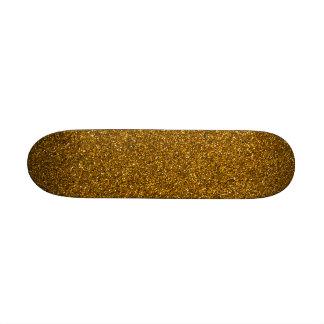 Gold Glitter Skateboard Decks