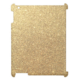 Gold Glitter Sparkle Pattern Background iPad Cover