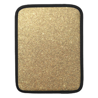 Gold Glitter Sparkle Pattern Background iPad Sleeve