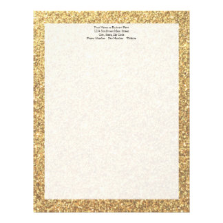 Gold Glitter Sparkle Pattern Background Letterhead Design